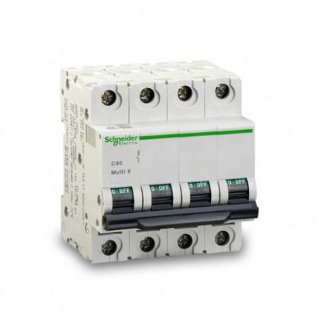 Interruptor Magnetotermico 10 Amp. 4 Polos Curva B 10 Ka