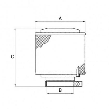 Filtro aire malla húmeda CAE39550
